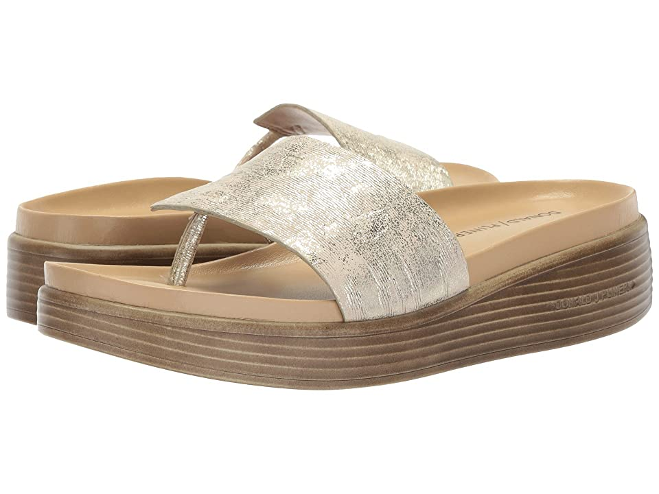 Donald J Pliner Fifi (Platino Foliage Metallic Leather) Women