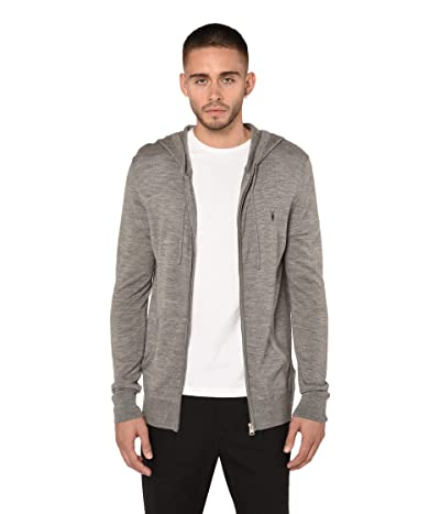 AllSaints Mode Merino Zip Hoodie (Grey Marl) Men