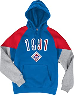 All Star 1991 NBA - Sudadera con Capucha, Color Azul, Rojo y Gris
