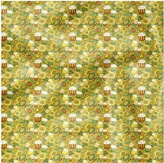 Lunarable Shamrock Cloth Napkin Set of 4, Doodle Holiday Horseshoe, 18
