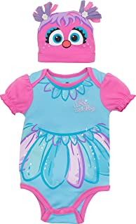 Sesame Street Abby Cadabby Baby Girls' Costume Bodysuit and Hat, Blue and Pink