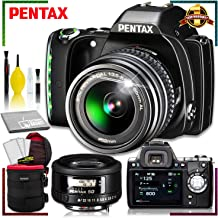 Pentax K-S1 DSLR Camera with 18-55mm Lens + Pentax SMCP-FA 50mm f.1.4 Lens + 6 Inch Vivitar Premium Lens Case with Accessory Kit