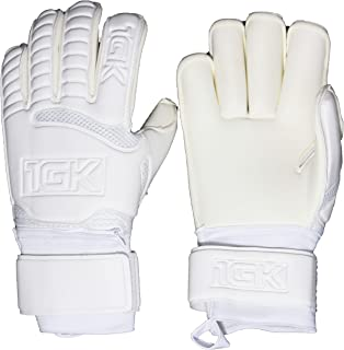 1GK Branco Fingersave Goalkeeper Glove - Customizable and Removeable Professional Fingersave Protection (Sizes 6-11) Roll Cut Design for Youth and Adult Soccer Goalkeepers (Roll Cut, 8)
