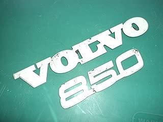 Vvolvo 850 White Rear Trunk Oem Emblem Letters Nameplate Badge Sign Symbol Logo Set of 2