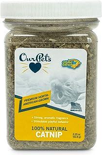 OurPets Premium North-American Grown Catnip, 2-1/4-Ounce Jar, Model:1050011693