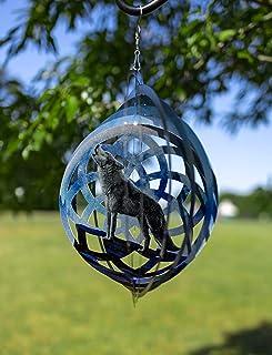 VP Home Wolf Dreamcatcher Kinetic 3D Metal Outdoor Garden Decor Wind Spinner