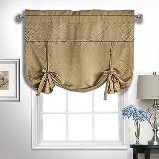 "United Curtain KTE63CM Kate Window Curtain Panel, 50"" X 63"", Camel,50"" X 63"""