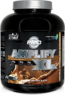 PMD Sports Amplify XL Superior Protein Supplement - Glutamine and Whey Protein Matrix with Superfood for Muscle, Strength and Recovery - Double Chocolate Explosion - 48 Servings