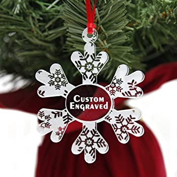 Christmas Items 2020 Amazon.com: LHS Engraving | Personalized Christmas Ornaments for