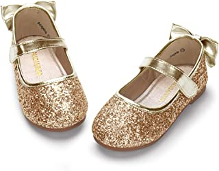 gold toddler flower girl shoes