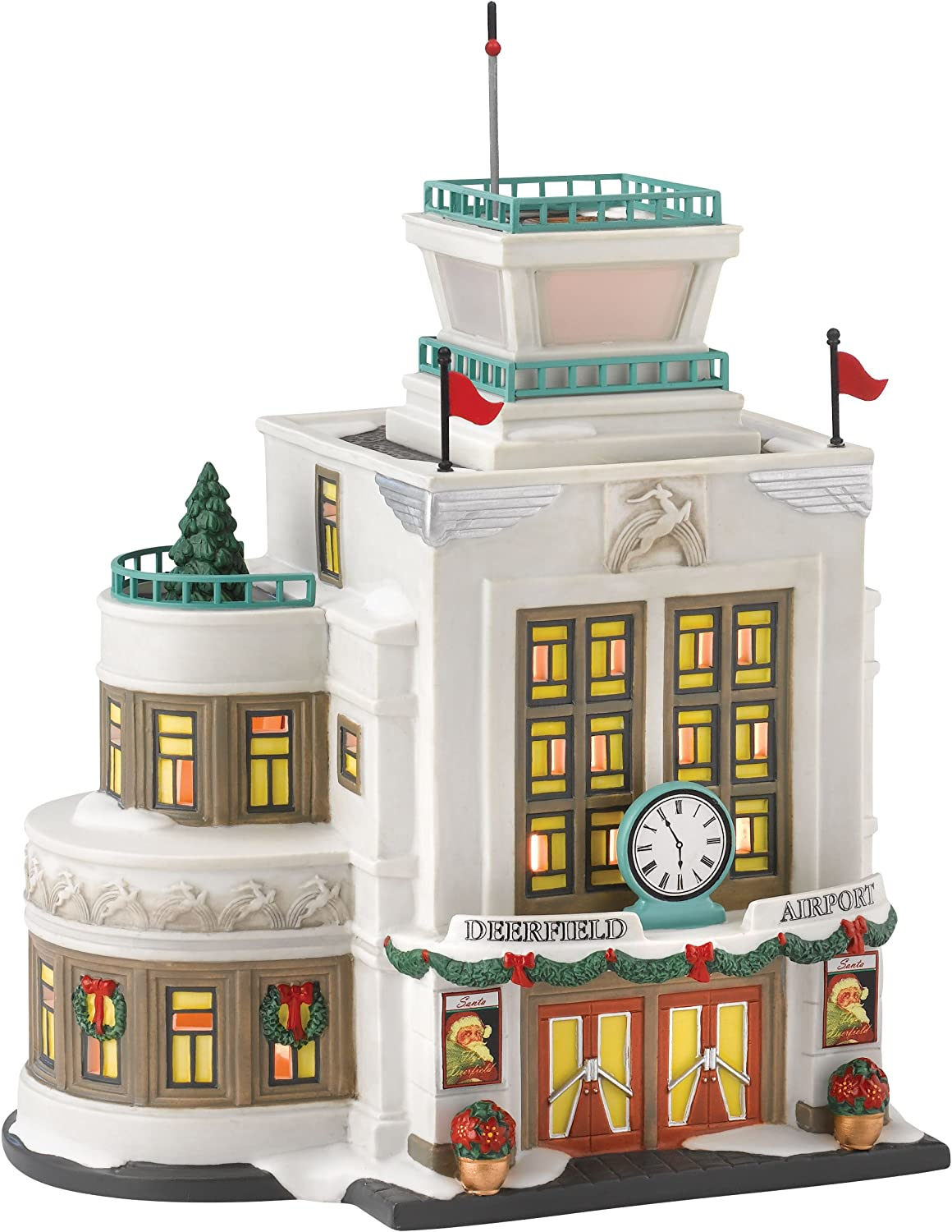 Department 56 Christmas in the City Village Deerfield Airport Lit House, 8.19 inch