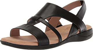 LifeStride Women's EZRIEL Sandal, Black, 6.5 M US