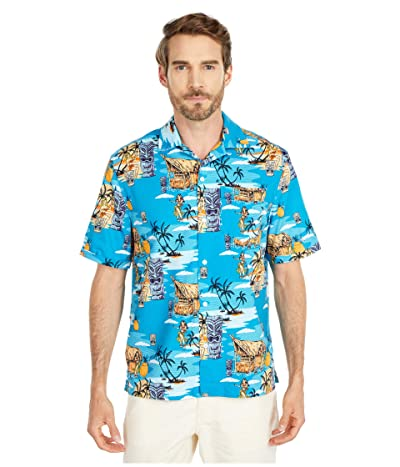 Original Penguin Tiki Print Shirt (Caribbean Sea) Men