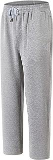 AIRIKE Mens Running Pants Fleece Workout Sweatpants Zipper Pockets Solid Marled Black (S-2XL)