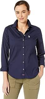Long Sleeve Solid Woven Shirt