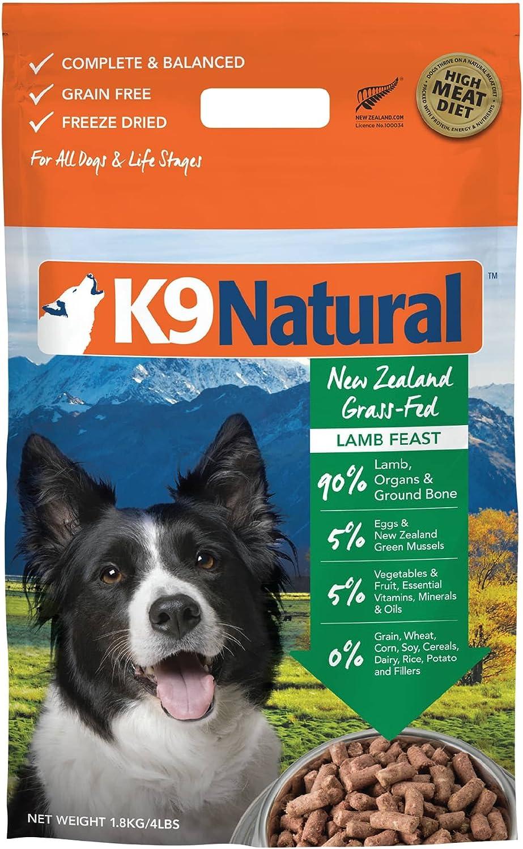 K9 Natural Feline Natural Freeze Dried Pet Food, 4Pound, Lamb