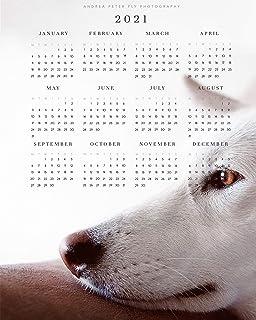 Pastore Tedesco Nero Regali Cane Calendario 2021 Parete Arte Stampa Regali Per Mamma GSD, Cane Carino Foto Calendario Post...