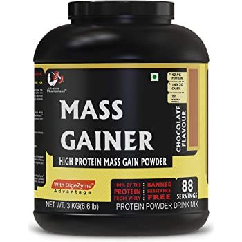 Advance Musclemass Mass Gainer Supplement Powder (Chocolate, 3 Kg/6.6 Lb 88 Servings)