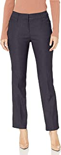 Ruby Rd. Women's Petite Fly Front Heathered Millennium Tech Stretch Pant