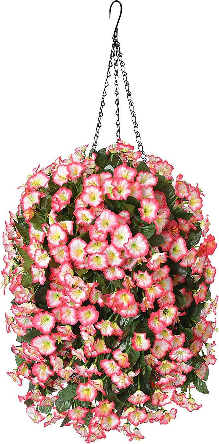 Hanging Artificial Flowers Basket Plant Orch Silk Fake Safety and Reservation trust