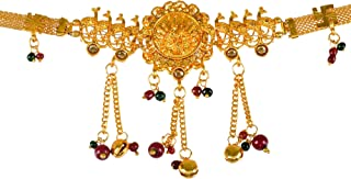 Sanjog Stylish Gold Plated Temple Kamarband Belly Chains for Women/Girls