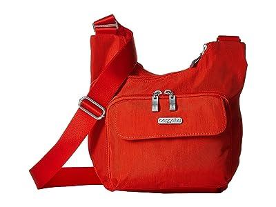 Baggallini Criss Cross Bagg (Vibrant Poppy) Cross Body Handbags