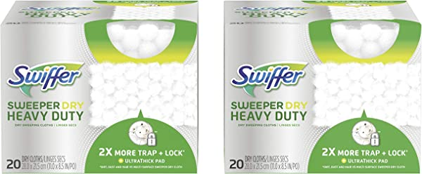 Swiffer Sweeper Heavy Duty Mop Pad Refills For Floor Mopping And Cleaning All Purpose Multi Surface Floor Cleaning Product 20 Count 2 Pack