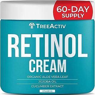 TreeActiv Retinol Cream | Hyaluronic Acid Skin-Firming Treatment for Face, Neck, Chest, Forehead, Hand, & Eye | Anti-Wrink...
