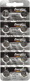 """Energizer LR44 1.5V Button Cell Battery 10 pack (Replaces: LR44, CR44, SR44, 357, SR44W, AG13, G13, A76, A-76, PX76, 675, 1166a, LR44H, V13GA, GP76A, L1154, RW82B, EPX76, SR44SW, 303, SR44, S303, S357, SP303, SR44SW) """"Energizer Brand Name Batteries"""""""