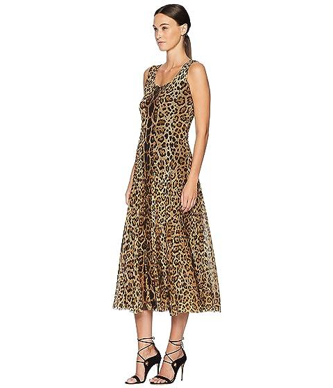 FUZZI Long Tank Dress in Animal Print at Luxury.Zappos.com f791069ae