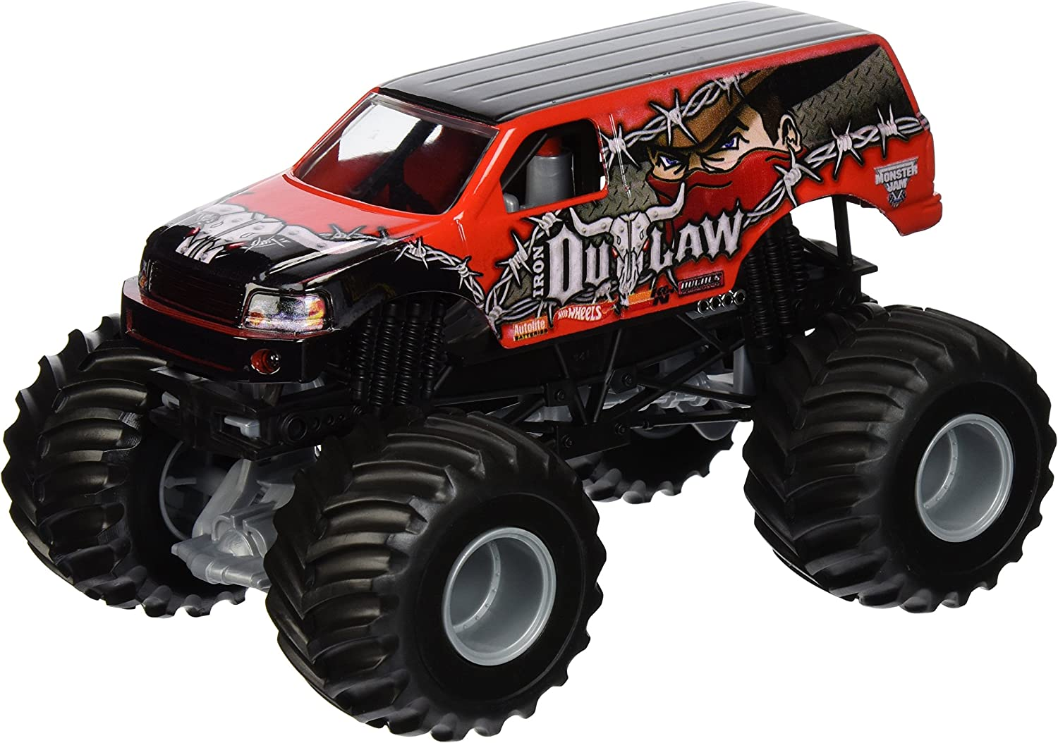 Hot Wheels Monster Jam Iron Outlaw DieCast Vehicle, 1 24 Scale