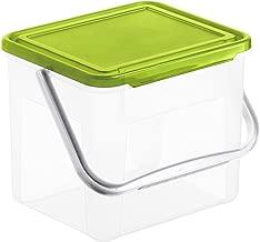 Rotho Basic Aufbewahrungsbox 4.5 l mit Deckel, Kunststoff (PP), transparent, (21 x 20 x 18 cm)