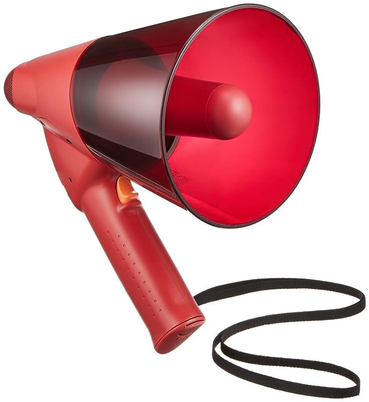 独裁おもちゃとティームTOA 小型防滴メガホン 6W 赤色 サイレン音付 ER-1106S