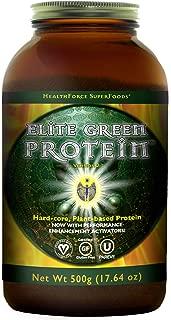 HealthForce SuperFoods Elite Green Protein Elite Mesquite - 500 Grams - Plant Based Protein Powder, Superfood Protein Supplement, Promotes Performance & Endurance - Vegan, Gluten Free - 20 Servings