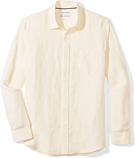 Best mens yellow linen shirt Reviews