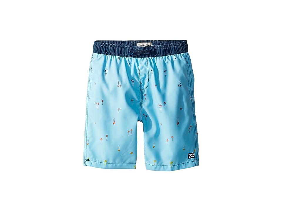 Billabong Kids Sundays Layback Boardshorts (Big Kids) (Light Blue) Boy