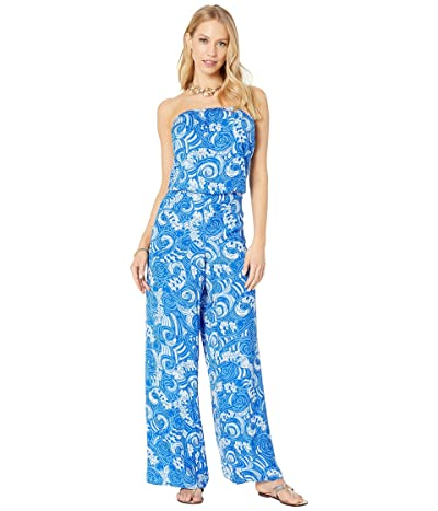 Lilly Pulitzer Pim Jumpsuit (Blue Grotto So Offishal) Women