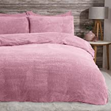 Sleepdown Teddy Fleece zestaw pościeli, bielizna termiczna, ciepła, przytulna, super miękka, z poszewkami na poduszki, pod...