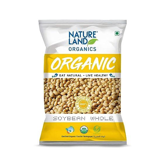 Natureland Organics Soybean Whole 500 Gm