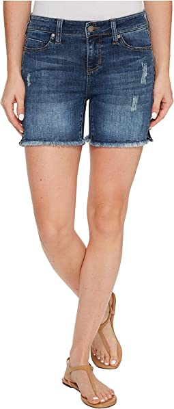 Vickie Shorts Frayed in Vintage Super Comfort Stretch Denim in Ridgecrest Destruct