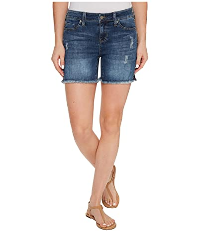 Liverpool Vickie Shorts Frayed in Vintage Super Comfort Stretch Denim in Ridgecrest Destruct (Ridgecrest Destruct) Women
