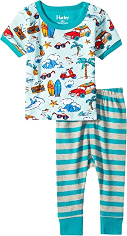 Hatley Kids Surf Island Short Sleeve Mini Pajama Set (Infant)