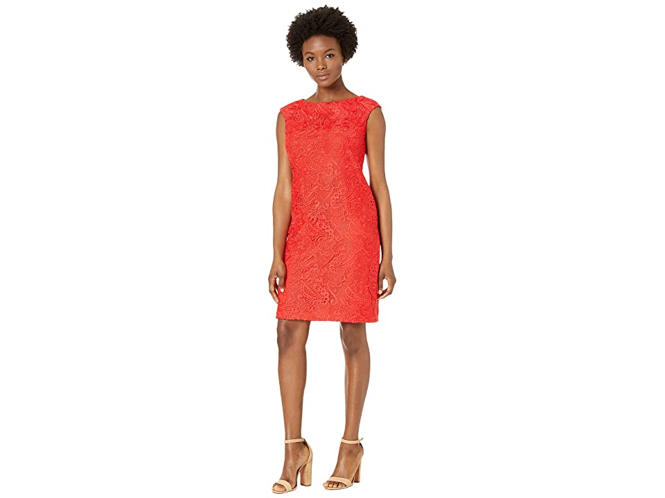 LAUREN Ralph Lauren Petite Cithya Dress (Summer Poppy) Women
