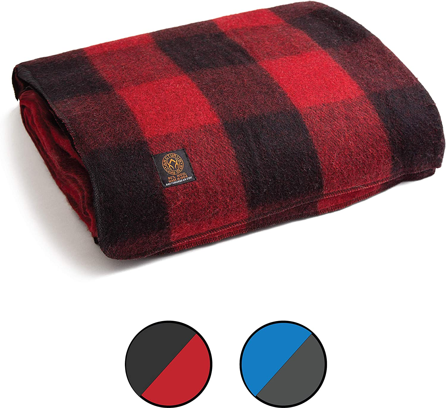Washable Sporting Events Outdoors or Survival /& Emergency Kits Great for Camping Arcturus Patterned Wool Blankets Large Heavy 4+ Pounds Warm