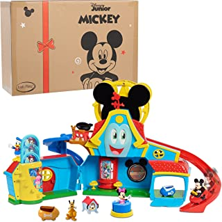 Just Play Disney Junior Mickey Mouse Funny The Funhouse 13 Piece Lights and Sounds Playset, Includes Mickey Mouse, Donald ...