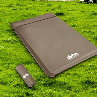 Inflatable Sleeping Pad Weisshorn Double Camp Sleeping Mat Air Bed 10CM-Thick Rollable Mattress for Camping Tent Caravan R...
