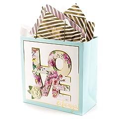 Hallmark 5WDB1085 Signature Large Gift Bag with Tissue Paper, Love Always