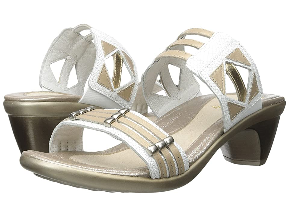 Naot Afrodita (White Snake Leather/Satin Gold Leather/Gold Leather) Women