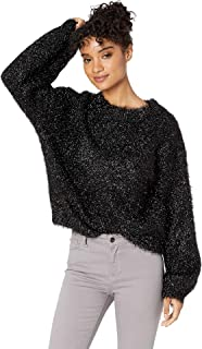 black metallic sweater