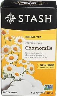 Stash Chamomile Herbal Tea, Caffeine Free, 20 Tea Bags Per Box
